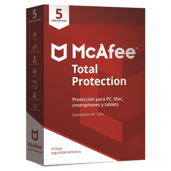 Antivirus McAfee Total Protection 5 Dispositivos 2018