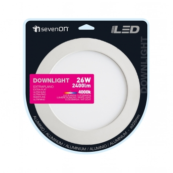 Bombilla Down Led Empotrable Redondo Blanco 26W 225MM
