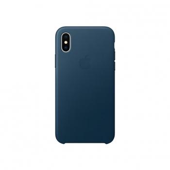 8da9a88112f Funda de Piel para iPhone X - Azul Cosmos