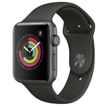 Apple Watch Series 3 GPS de 42 mm con Caja de Aluminio en Gris Espacial y Correa Deportiva Negra. Outlet. Producto Reacondicionado