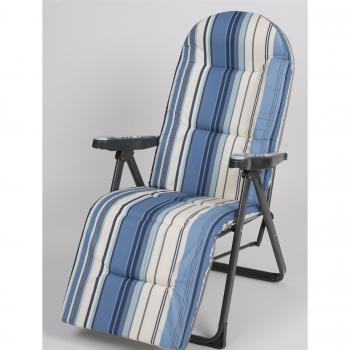 1de0bdb61 Silla Acolchada 7 cm Relax 5 Posiones Azul