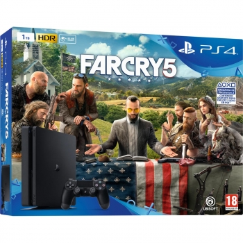 PS4 1TB con Far Cry 5. Negro