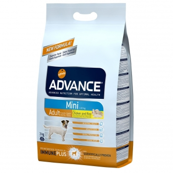 Pienso de pollo y arroz para perros adultos Mini Advance 3 Kg.