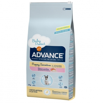 Pienso de salmón y arroz para perros Puppy Sensitive Advance 12 Kg.