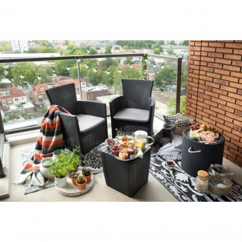 Set Iowa Balcony con Mesa Luzon de Grafito