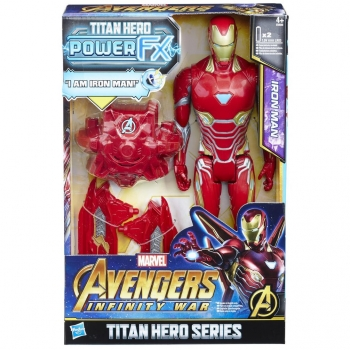 Hasbro - Titan Y Mochila Power FX Iron Man