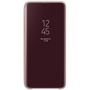 Funda Samsung Clear View Standing Cover para Galaxy S9 - Dorado