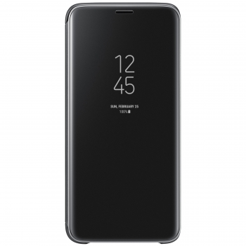 Funda Samsung Clear View Standing Cover para Galaxy S9 - Negro