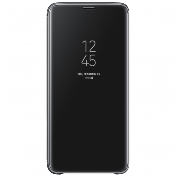 Funda Samsung Clear View Standing Cover para Galaxy S9+ - Negro