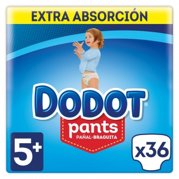 Pants Dodot  Extra Talla 5 12-17 Kgs 36 uds