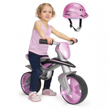 Injusa - Correpasillo Balance Bike Jumper Girl con Casco