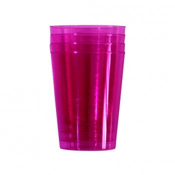 Set de Vasos Alto de Plástico CARREFOUR HOME FUCSIA 6pz - Fucsia 033c2cd5fc12