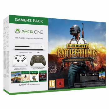 Xbox One S 1TB GamersPack con Pubg Halo5 Rare Replay Gears Of War Ultimate y Mando Combat