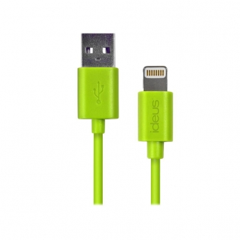 Cable de Datos Lightning Ideus para iPhone 5/ 6/ y iPad Mini - Verde