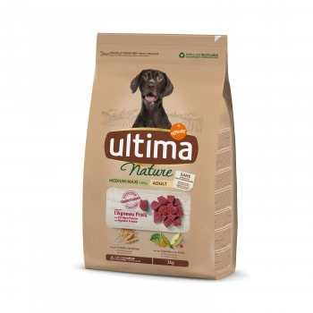 Ultima Nature Pienso para Perro Adulto Medium - Maxi Sabor Cordero 3kg.