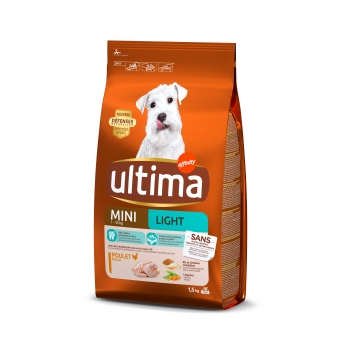 Ultima Pienso para Perro Adultos Mini Light Sabor Pollo 1,5kg.