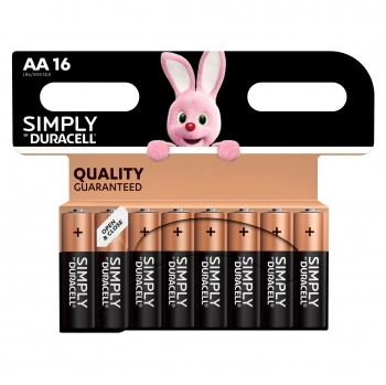16 Pilas Duracell Simply AA