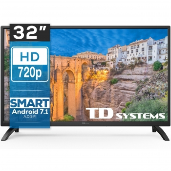 TV LED 81,28 cm (32'') TD Systems 32DLM8HS, HD Ready, Smart TV
