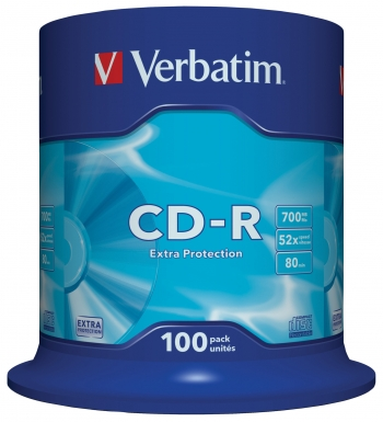 Cd-r Verbatim Extra Protection Tarrina 100uds