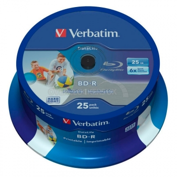 Bd-r Verbatim Matt Wide 25gb 6x Tarrina 25 Uds