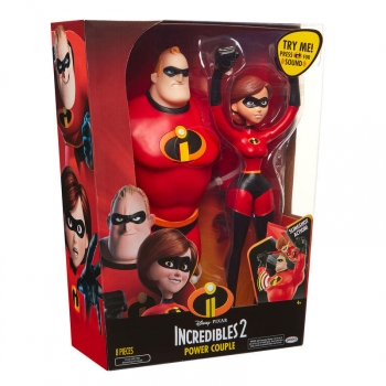 Set Figuras Elastigirl Y Mr Increible 33cm