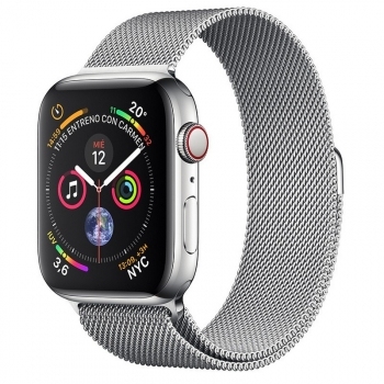 Apple Watch Series 4 Gps + Cellular 40mm Acero Plata Con Milanese Loop Plata