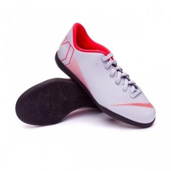 Botas De Futbol Sala Nike Raised Vapor 12 Club Gris Suela Lisa Niño 1303f5f874392