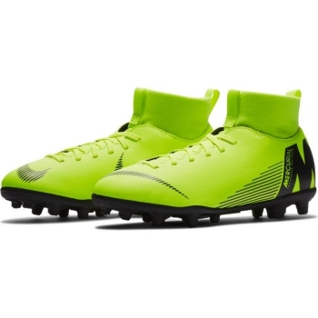 promo code eb62d b094f Botas De Fútbol Nike Mercurial Superfly Series Suela Mg Amarillo Fluor   Negro Niño