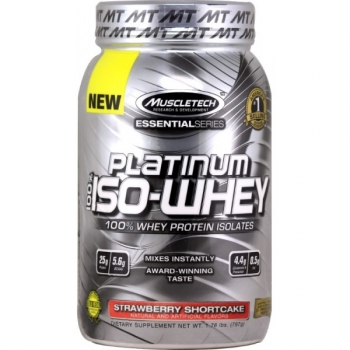 Platinum 100 % Iso Whey 1.76 Lb Strawberry Shortcake
