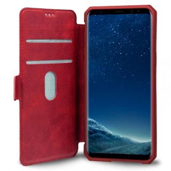 7398cd43c66 Cool® - Funda Flip Cover View Samsung Galaxy S8 ( Leather Roja ) Carcasa Con