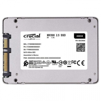 "Crucial Mx500, 2000 Gb, 2.5"", Serial Ata Iii, 560 Mb/s, 6 Gbit/s"