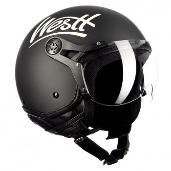 4eadd575438 Westt® Classic X · Casco Moto Jet Abierto Estilo Vintage Motocicleta  Ciclomotor Y Scooter ·