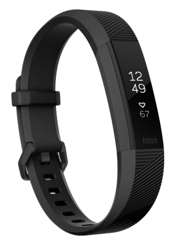Fitbit Alta Hr, Wristband Activity Tracker, Negro, Acero Inoxidable, Vidrio, Acero Inoxidable, Negro, Elastómero, S