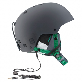 Cascos Esqui Salomon Brigade Audio Grey/forest Green. S / 55-56 Cm