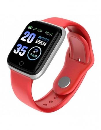 Smartwatch Lkstech® Reloj  Inteligente Bluetooth Unisex, Rojo