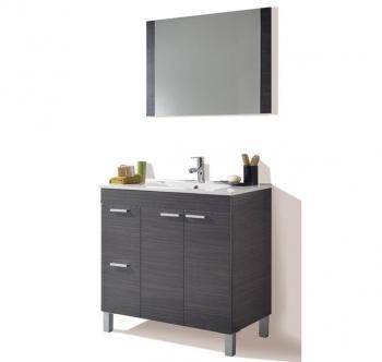 Mueble Lavabo + Espejo + Lavabo + Columna + Grifo + Lampara 38d357793472