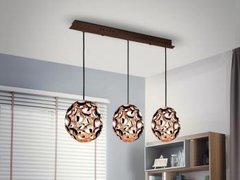 lampara 3 luces lucila oro 72x22x18 cm - Lamparas De Techo Colgantes