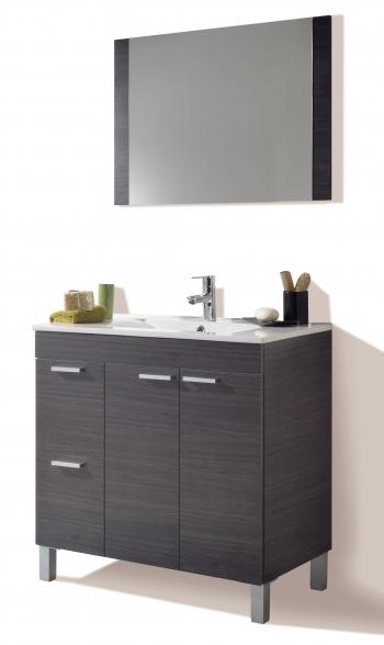 Mueble Para Baño O Aseo Con Espejo 2 Puertas Y 2 Cajones Con Lavamanos De  Pmma 13f9a645b4dc
