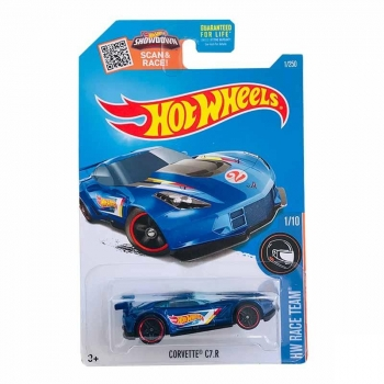 Hot Wheels Corvette C7.r Hw Race Team 1/250 2016 Long Card