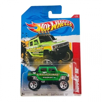 Hot Wheels Hummer H2 Thrill Racers-earthquake 221/247 2012 Long Card