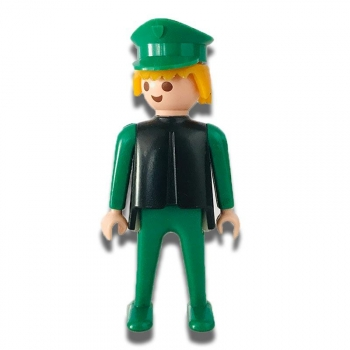 Playmobil Green Man Police Officer Figure 1974 Loose