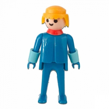 Playmobil Elegant Blue Man With Blue Gloves Figure 1974 Loose
