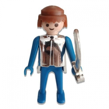 Playmobil Vintage Soldier In Silver Armor Figure 1974 Loose