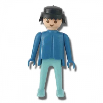 Playmobil Blue Man Figure 1974 Loose