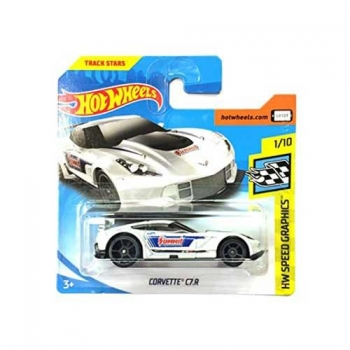 Hot Wheels Corvette C7.r Hw Speed Graphics 27/365 2018 Short Card