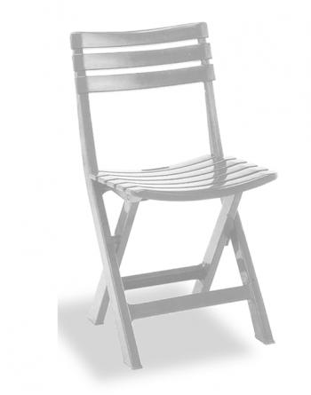 Silla Jardín Color Blanco (plástico) 41 X 44 X 78 Cm