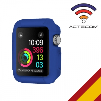 Actecom Funda Carcasa Goma Compatible Para Apple Watch 42mm Azul