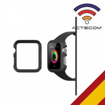 Actecom Carcasa Protector Para Apple Watch 38 Mm Serie 2 Negra