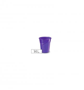 3731fa8fd Papelera Plastico Cep Violeta 14 Litros