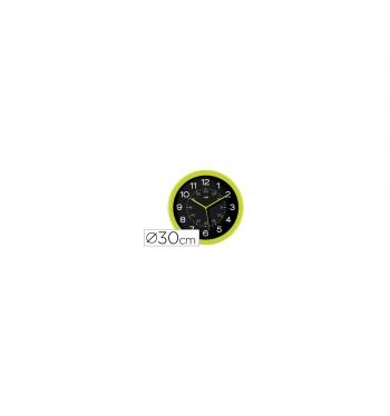 b22c11d22 Reloj Cep De Pared Plastico Oficina Redondo 30 Cm De Diametro Color Verde Y Esfera  Color